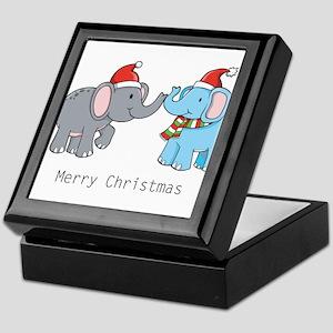 Elephant Christmas Keepsake Box