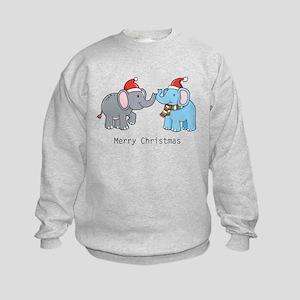 Elephant Christmas Kids Sweatshirt