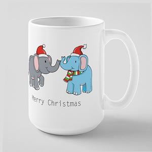 Elephant Christmas Large Mug