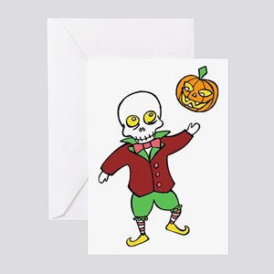 Skeleton and Pumpkin Greeting Cards (Pk of 10)