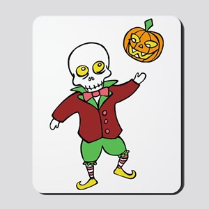 Skeleton and Pumpkin Mousepad