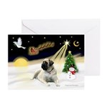 Night Flight/Bull Mastiff Greeting Cards(Pk of 10)