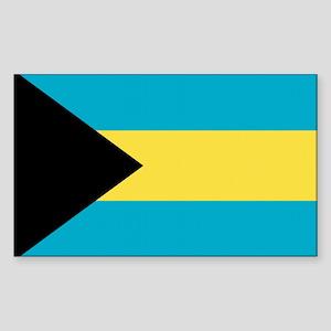 Bahamas Flag Rectangle Sticker