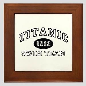 Titanic Swim Team Framed Tile