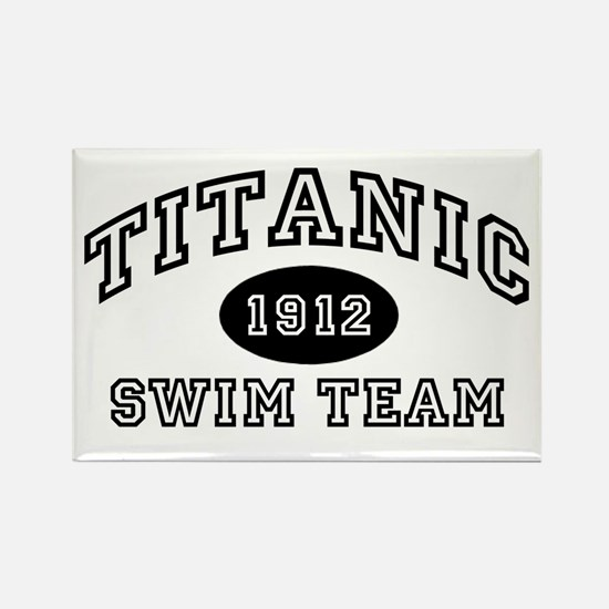 Titanic Swim Team Rectangle Magnet