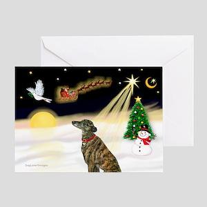 Night Flight/Greyhound(brin) Greeting Card