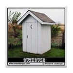 White Outhouse Tile Coaster