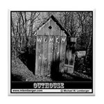 Women's Outhouse Tile Coaster