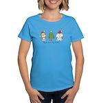 Cat and Dog Christmas Women's Dark T-Shirt
