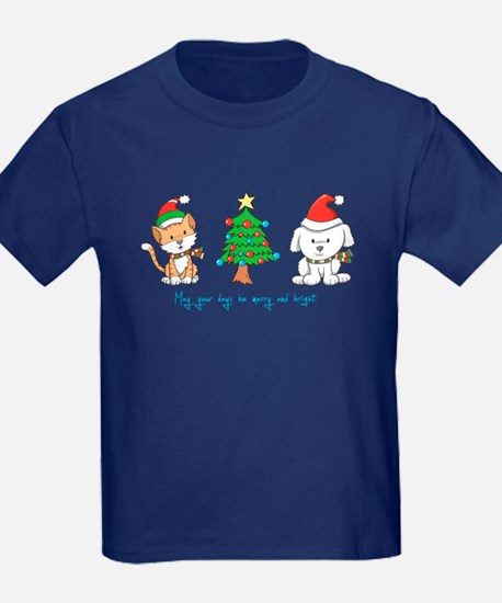 Cat and Dog Christmas T