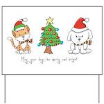 Cat and Dog Christmas Yard Sign