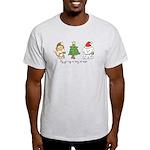 Cat and Dog Christmas Light T-Shirt