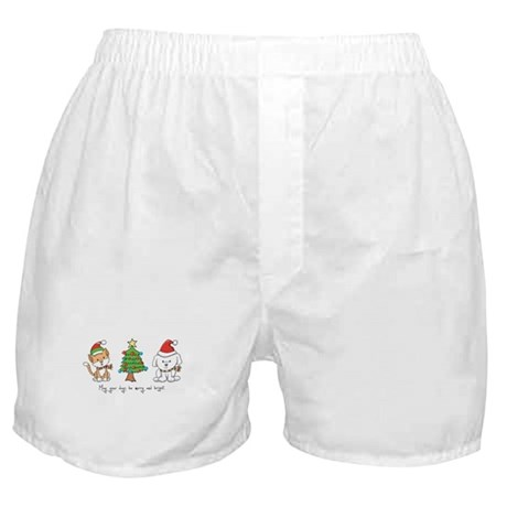 Cat and Dog Christmas Boxer Shorts