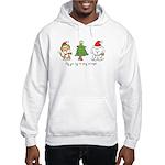 Cat and Dog Christmas Hooded Sweatshirt