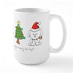 Cat and Dog Christmas Large Mug