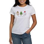 Cat and Dog Christmas Women's T-Shirt