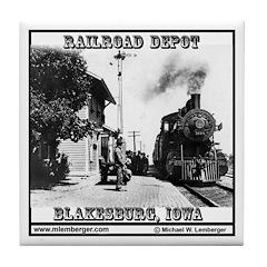 Blakesburg Depot Tile Coaster