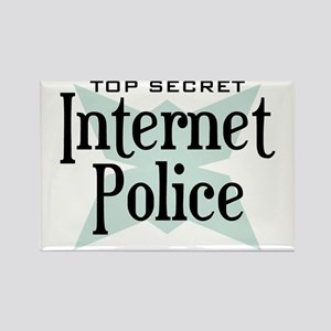 Secret Internet Police Rectangle Magnet