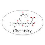 I Love Chemistry Oval Sticker