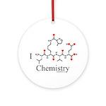 I Love Chemistry Ornament (Round)
