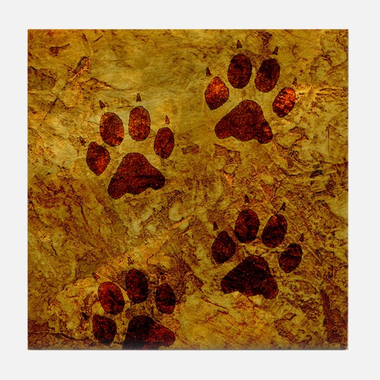 Paws of Gold Tile Coaster