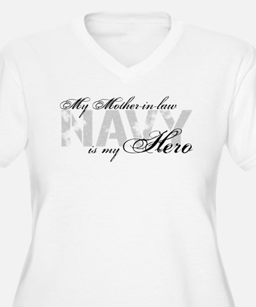 Mother-in-law is my Hero NAVY T-Shirt