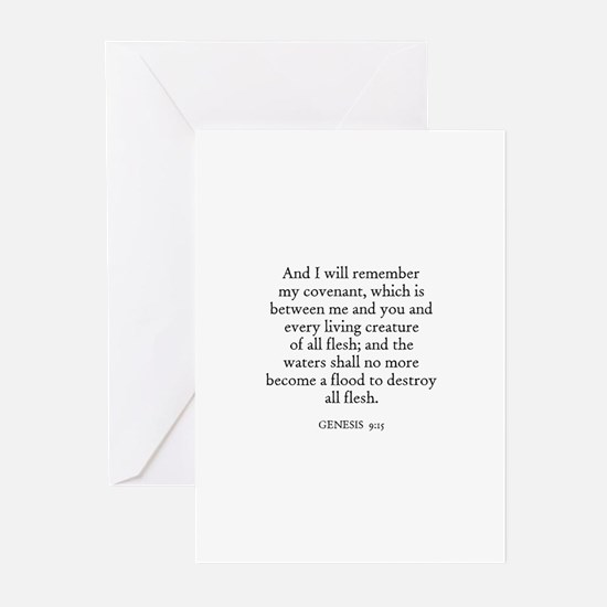 GENESIS  9:15 Greeting Cards (Pk of 10)