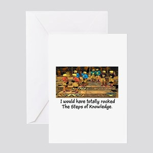 Steps of Knowledge Greeting Card