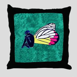 Jezebel Butterfly Throw Pillow