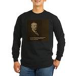 Theodore Roosevelt Quote Long Sleeve Dark T-Shirt