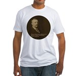 Theodore Roosevelt Quote Fitted T-Shirt
