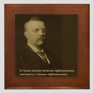 Theodore Roosevelt Quote Framed Tile