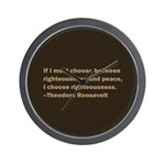 Theodore Roosevelt Quote Wall Clock