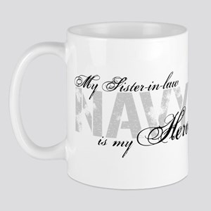 Sister-in-law is my Hero NAVY Mug
