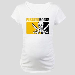 Pirates Rock! Maternity T-Shirt