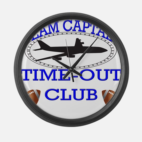 Time out Large Wall Clock