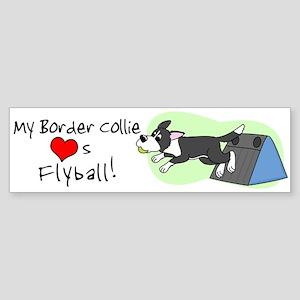 My Border Collie Loves Flyball Bumper Sticker
