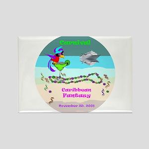 Carnival Caribbean Fantasy- Rectangle Magnet