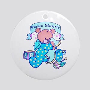 Proud Mommy (Boy/Blue) Ornament (Round)
