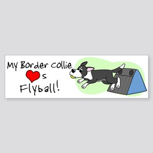 My Border Collie Loves Flyball Bumper Sticker