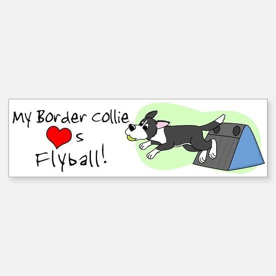 My Border Collie Loves Flyball Bumper Bumper Bumper Sticker