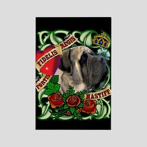 Tattoo Mastiff Rectangle Magnet