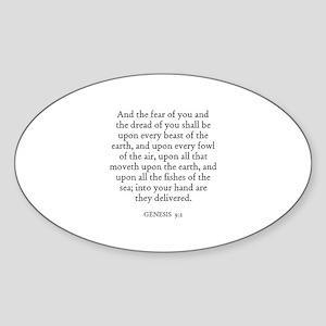 GENESIS 9:2 Oval Sticker