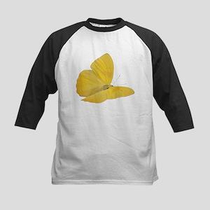 Yellow Butterfly (Bug 7) Kids Baseball Jersey