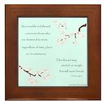 Red Thread Legend (Dogwood) Framed Tile