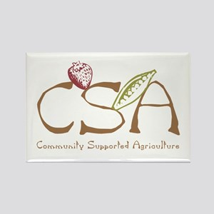 Community Agriculture Rectangle Magnet