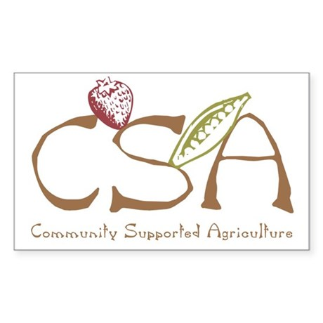 Community Agriculture Rectangle Sticker
