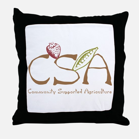 Community Agriculture Throw Pillow