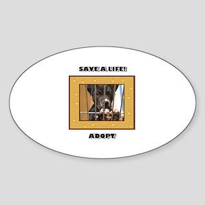Adopt a puppy Oval Sticker