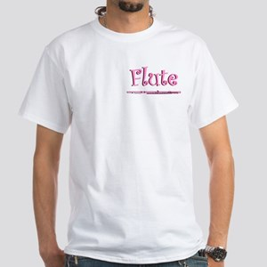 Pink Flute White T-Shirt